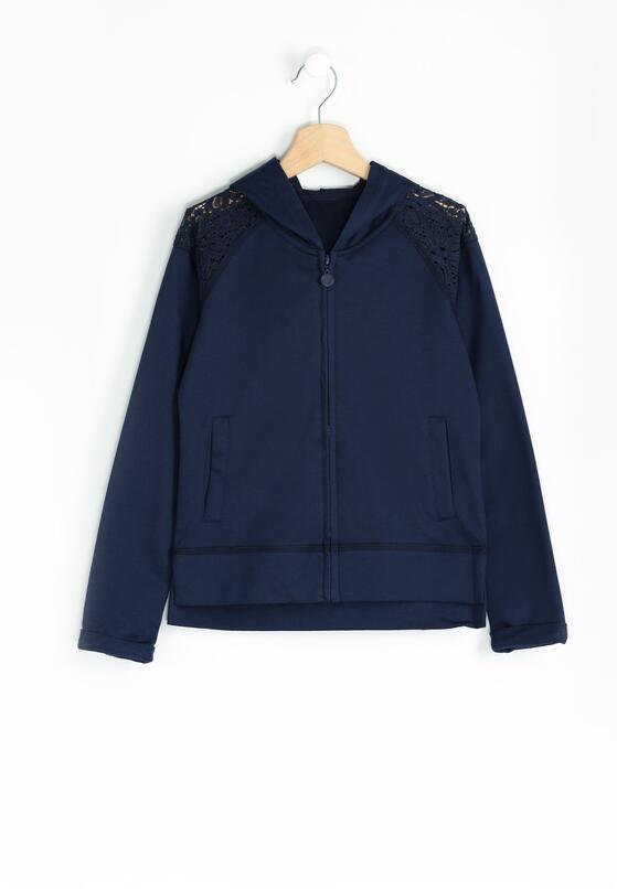 Granatowa Bluza Lace-Maker