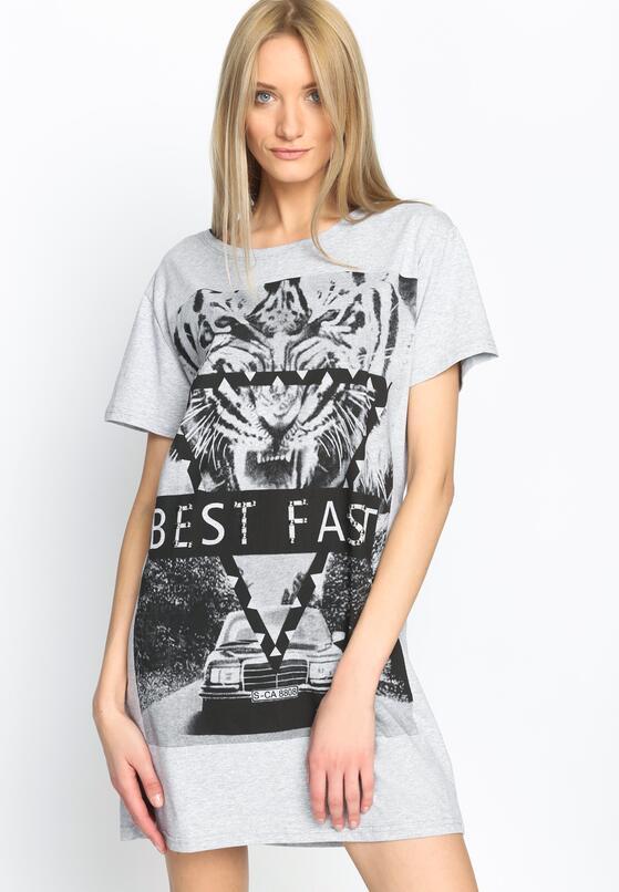 Szara Bluzka Fast Beast