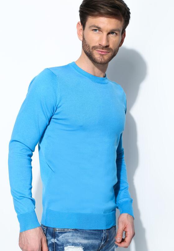 Niebieski Sweter Trusted