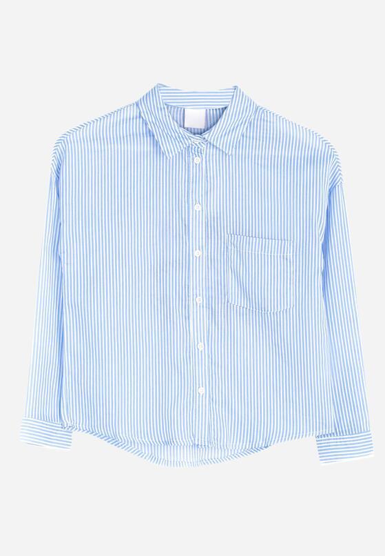 Niebieska Koszula Vertical Belt