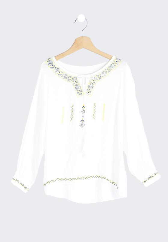 Biała Bluzka Boho Girl