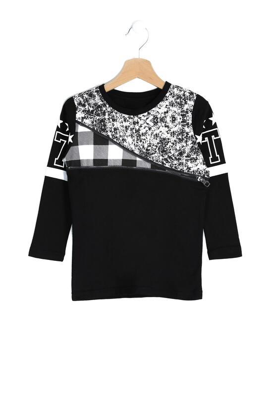 Czarna Koszulka Chequer