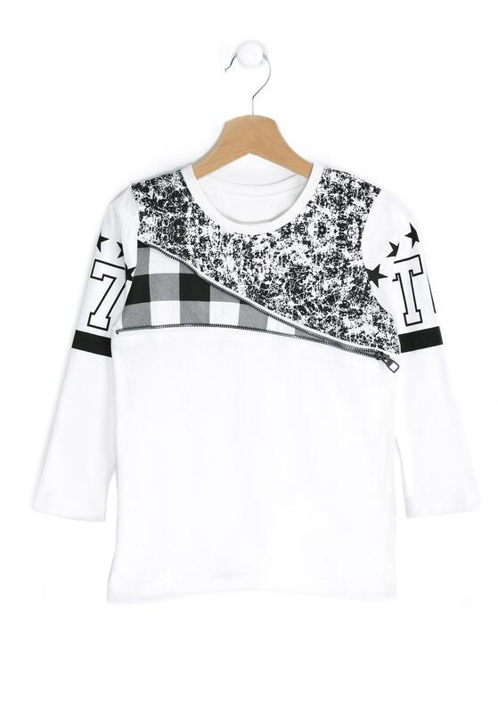 Biała Koszulka Chequer