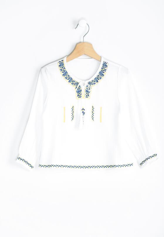Biała Bluzka Clear Tassel