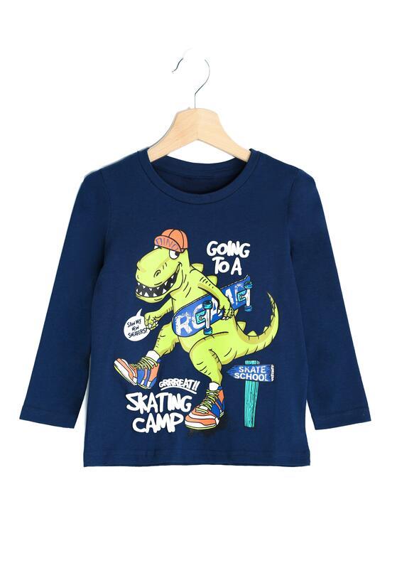 Ciemnoniebieska Koszulka Cool Dragon