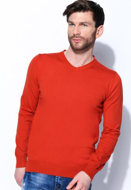 Pomarańczowy Sweter Real Life