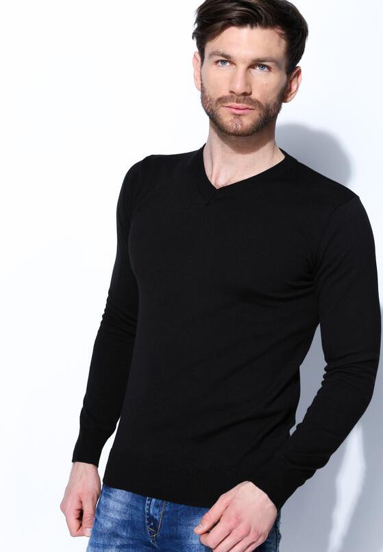 Czarny Sweter Smart Casual