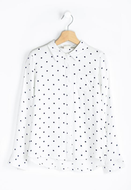 Biało-Granatowa Koszula Cookie Cutter