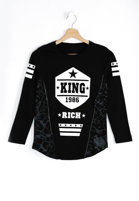 Czarna Koszulka Rich King