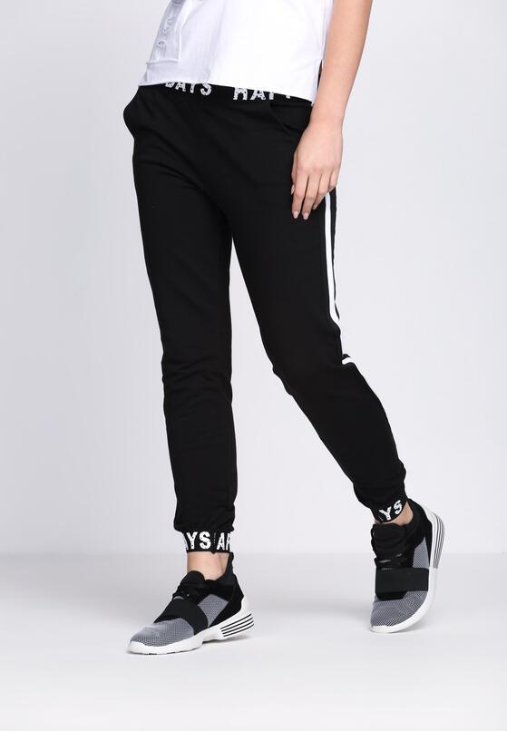 Czarne Spodnie Dresowe Happy Days