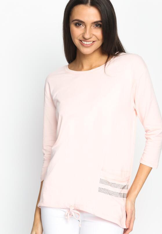 Różowa Bluzka Overall