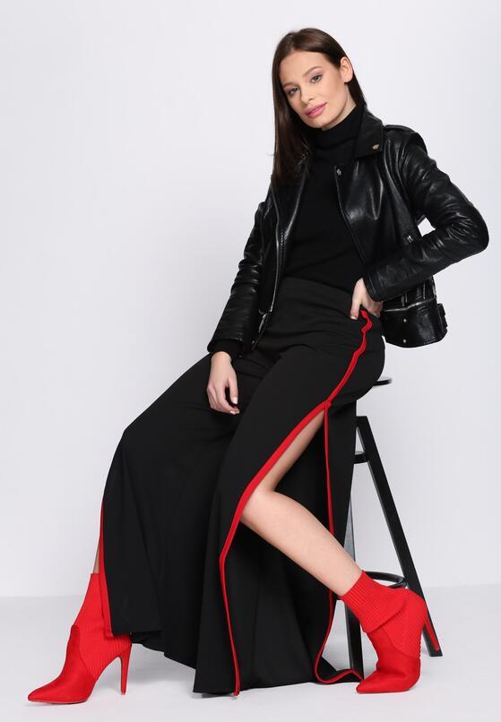 Czarno-Czerwone Spodnie Good As New