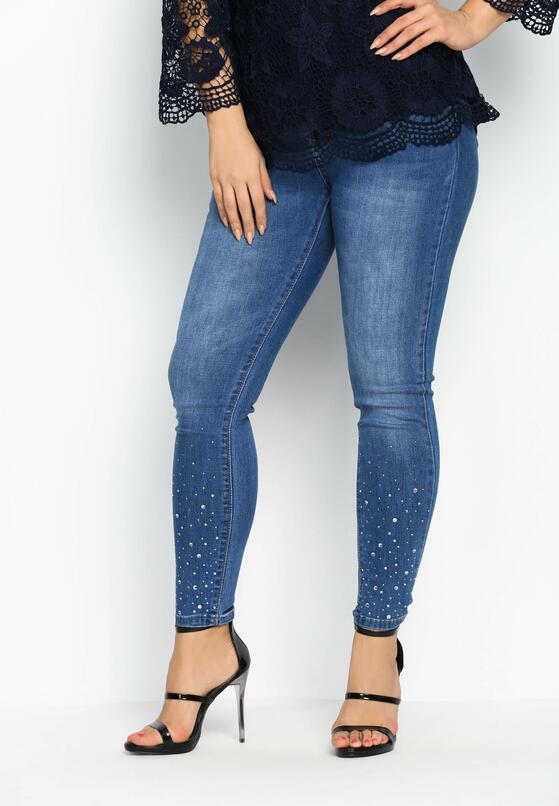 Niebieskie Jeansy Shiny Bottom
