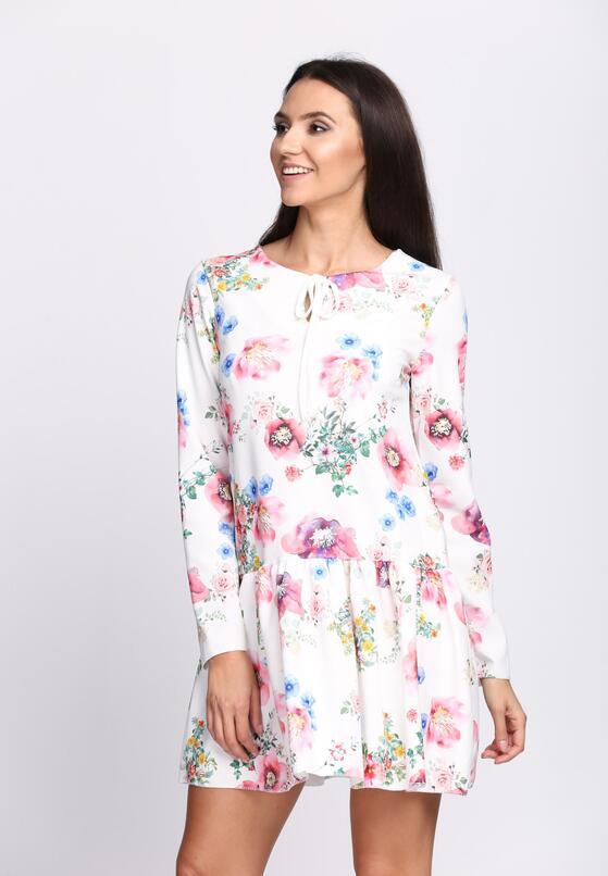 Biało-Różowa Sukienka Baylor