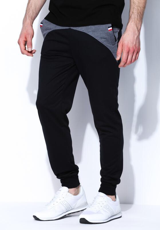 Czarne Spodnie Dresowe Virile