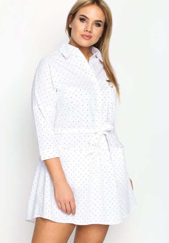 Biała Sukienka Microcosm