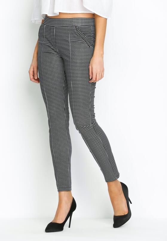 Czarne Spodnie Modernism Shape