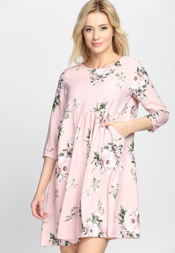 Różowa Sukienka Full Flower