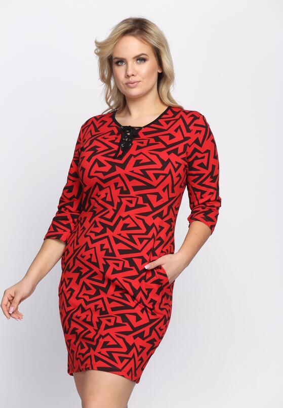 Czerwona Sukienka Urban Jungle