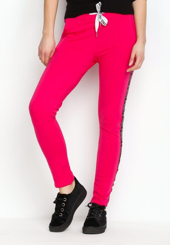 Fuksjowe Spodnie Dresowe Conveniently