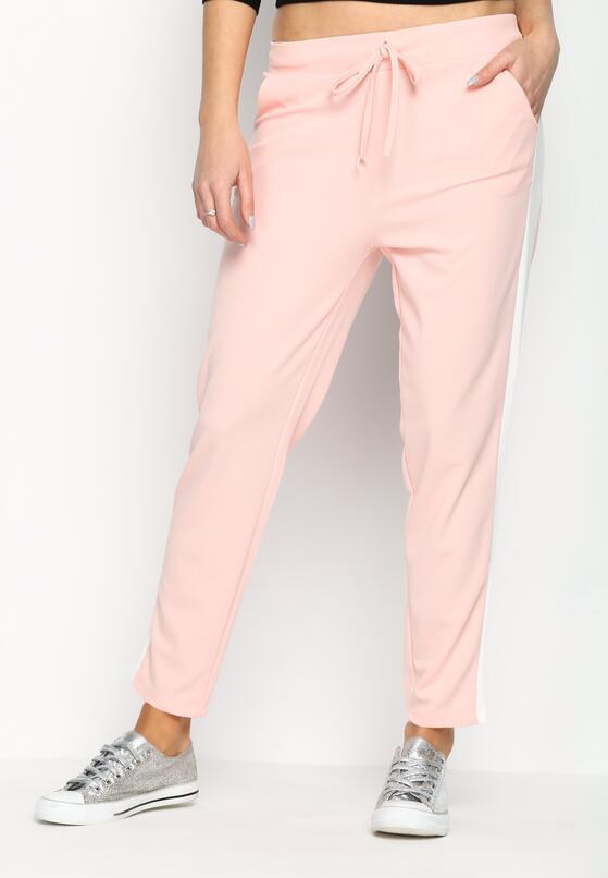 Różowe Spodnie Dresowe Hot Girl