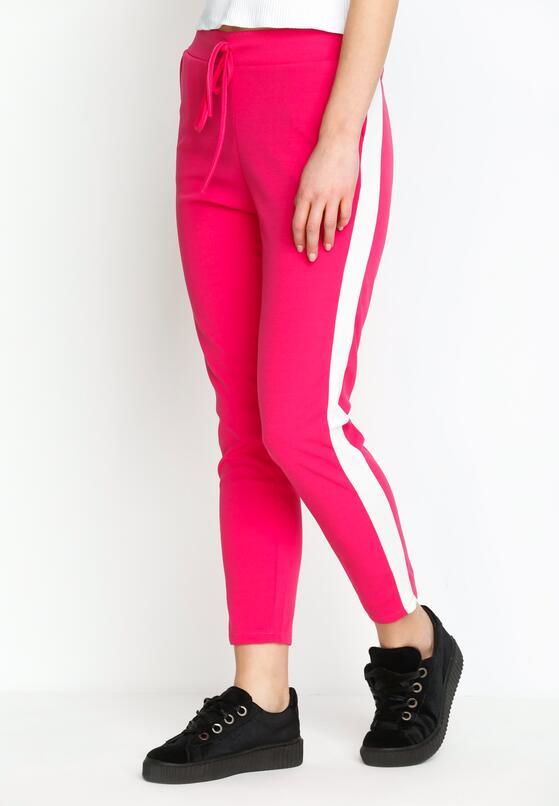 Fuksjowe Spodnie Dresowe Hot Girl