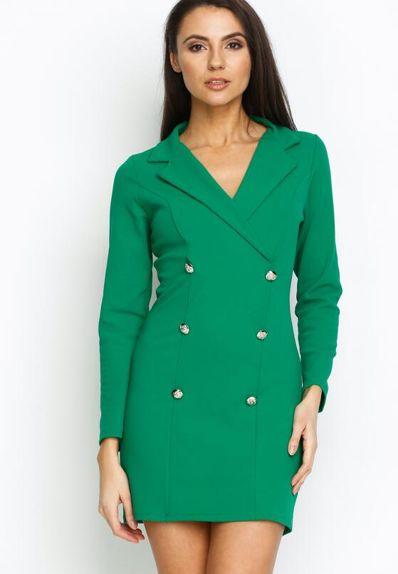 Zielona Sukienka Unclassic Tuxedo
