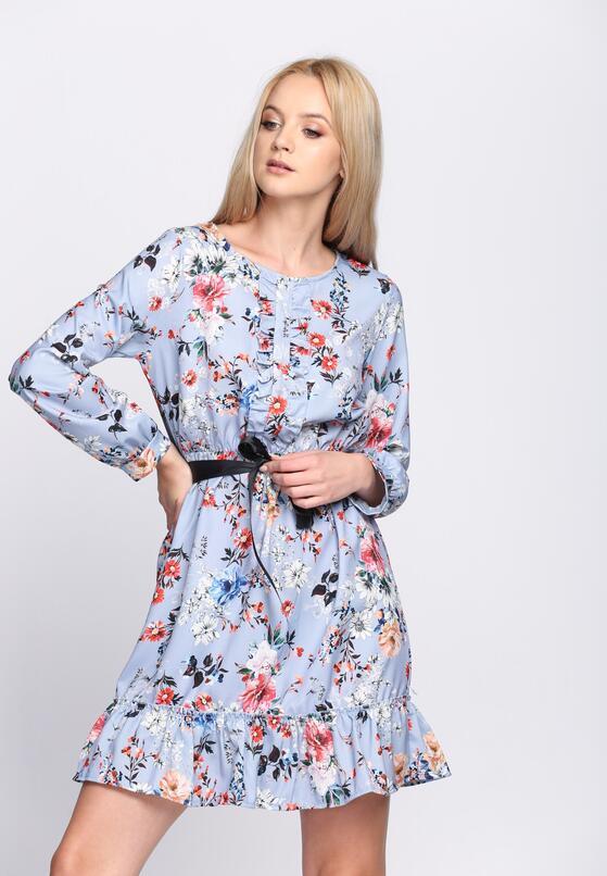 Niebieska Sukienka Florentin