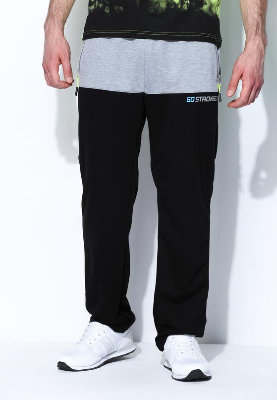 Czarne Spodnie Dresowe Go Stronger