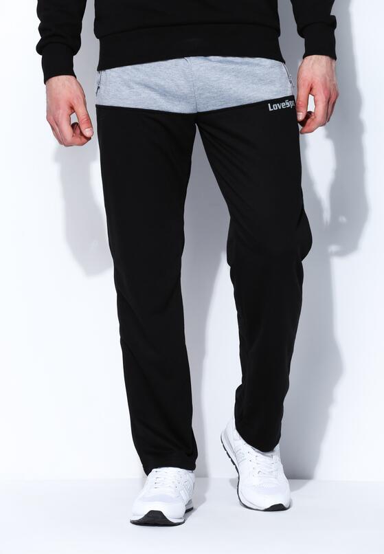 Czarne Spodnie Dresowe Keep Up