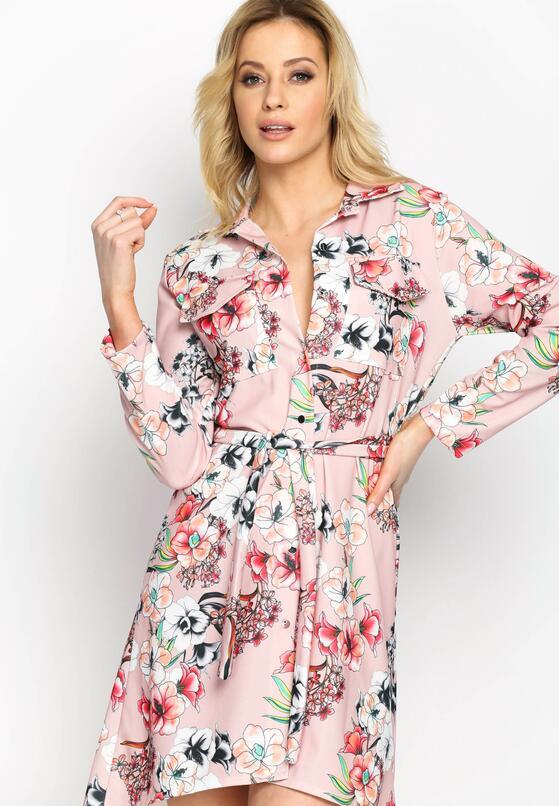 Różowa Sukienka Sketch