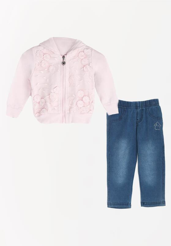 Różowy Komplet Carry On