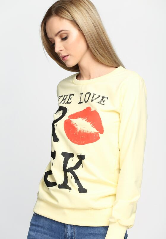 Żółta Bluza Kiss Back