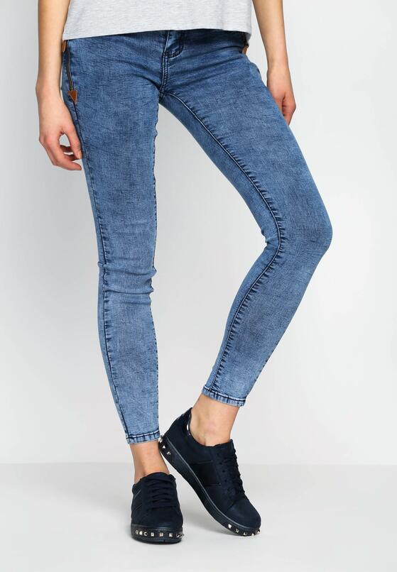 Niebieskie Jeansy Interesting Pocket