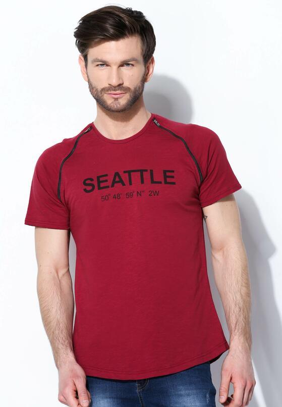 Bordowa Koszulka Seattle