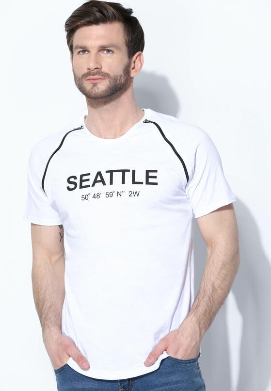 Biała Koszulka Seattle