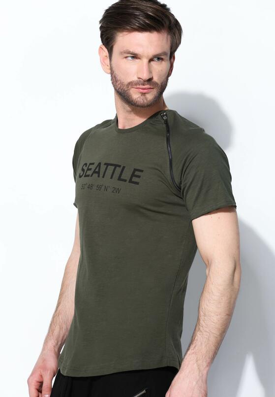 Ciemnozielona Koszulka Seattle