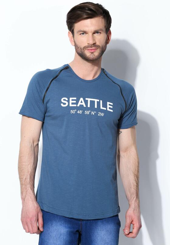 Niebieska Koszulka Seattle