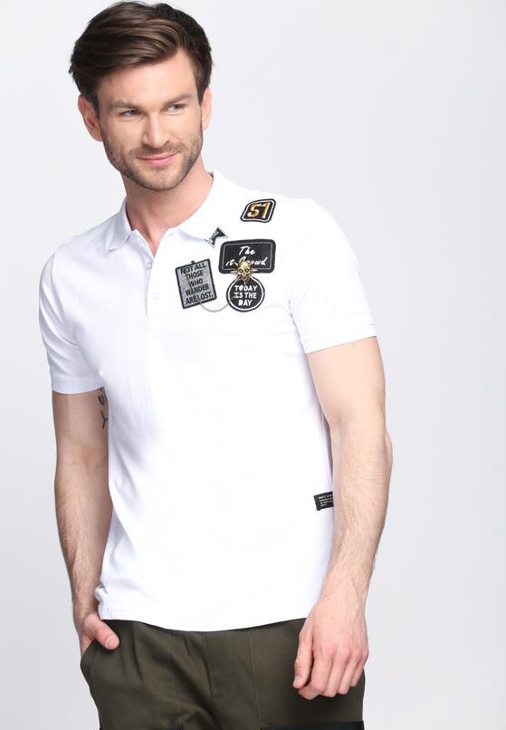 Biała Koszulka Take a Wander