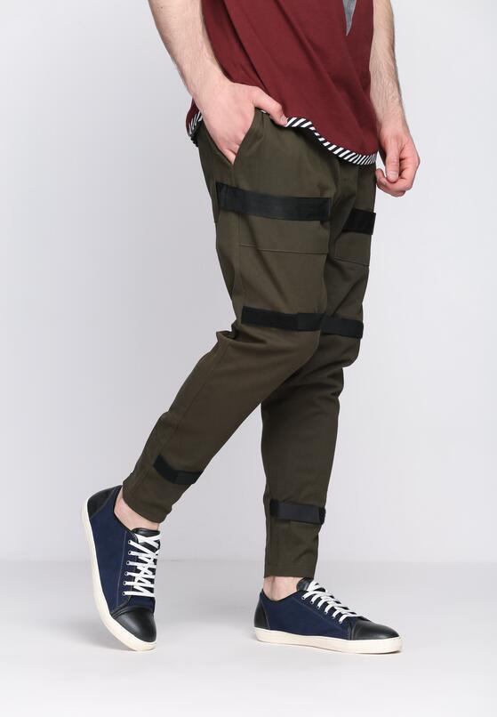 Ciemnozielone Spodnie Novelty