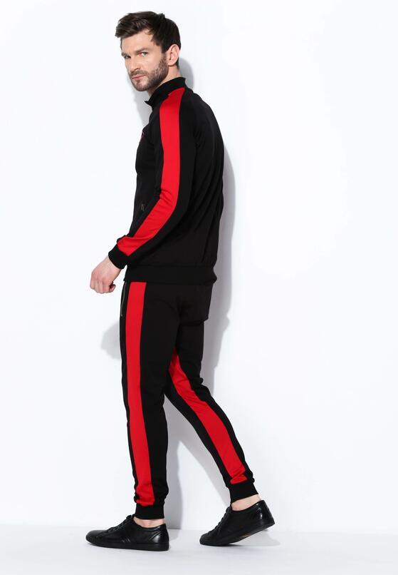 Czarno-Czerwony Komplet Dresowy Barely Ever