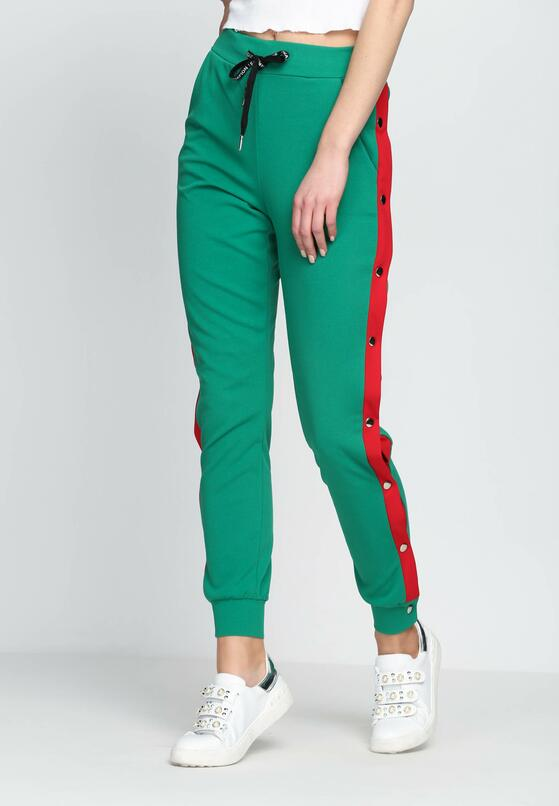 Zielone Spodnie Dresowe Nowadays