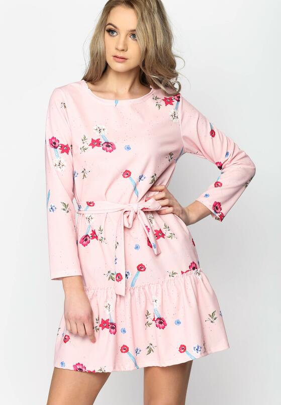 Różowa Sukienka Azorella