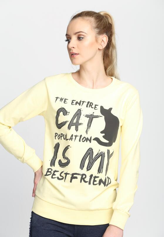 Żółta Bluza Entire Cat
