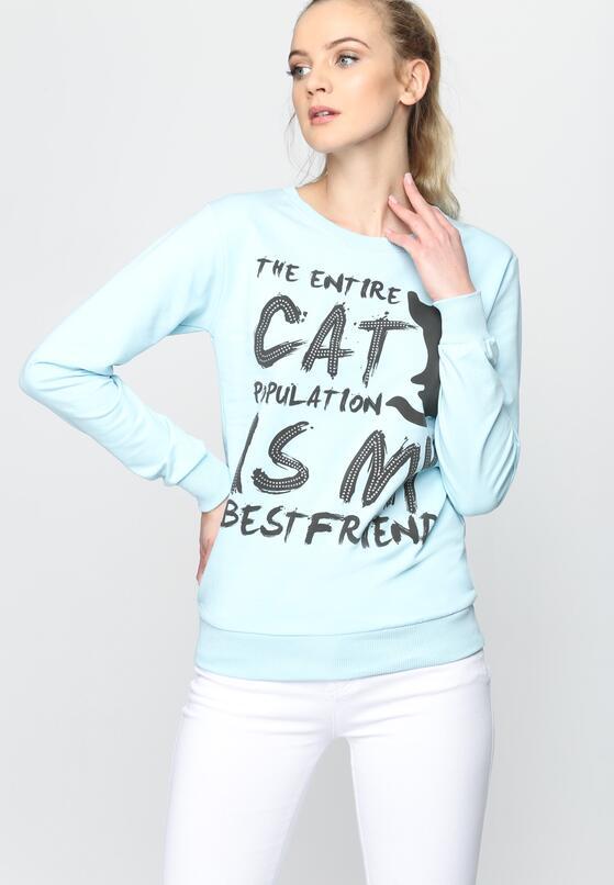Niebieska Bluza Entire Cat