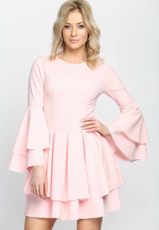Różowa Sukienka Hippie Dress