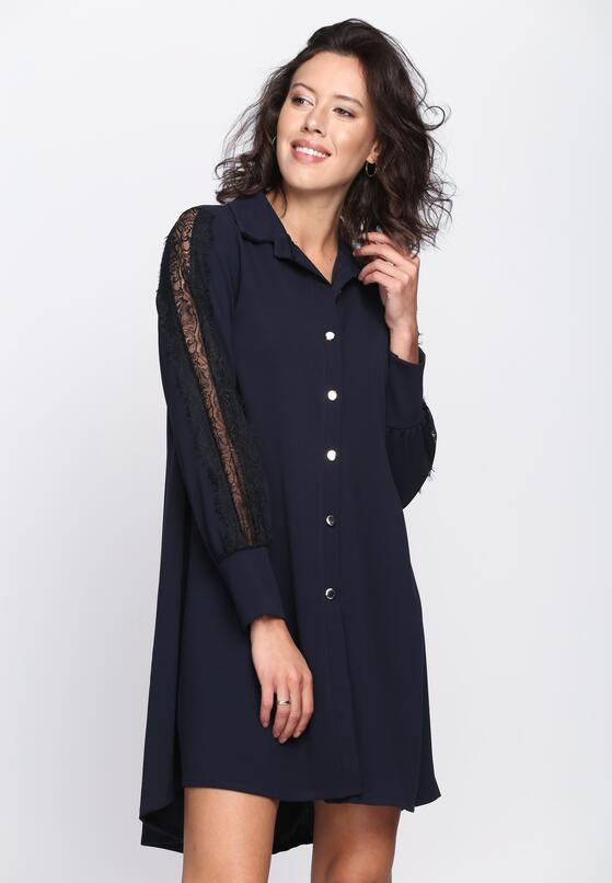 Granatowa Sukienka Lacy Love