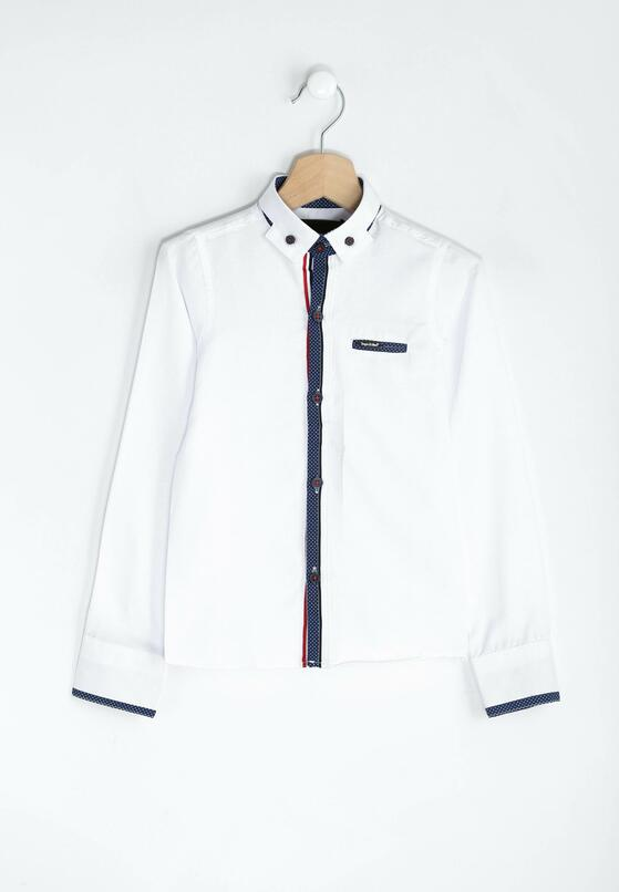 Biało-Granatowa Koszula Little Elegant