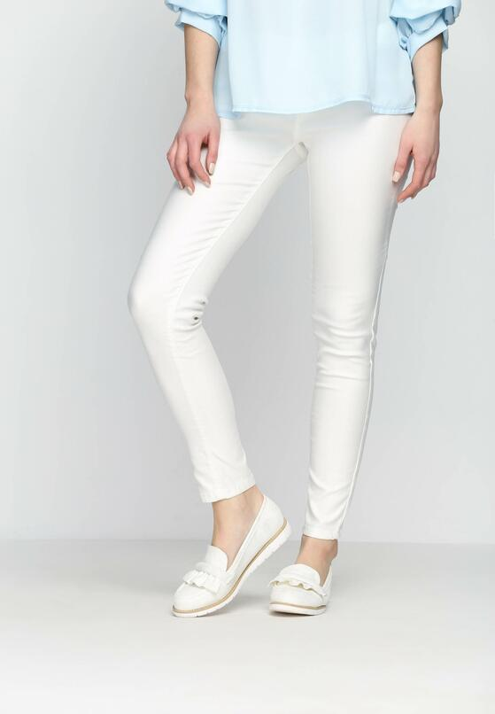 Białe Jegginsy White Marble