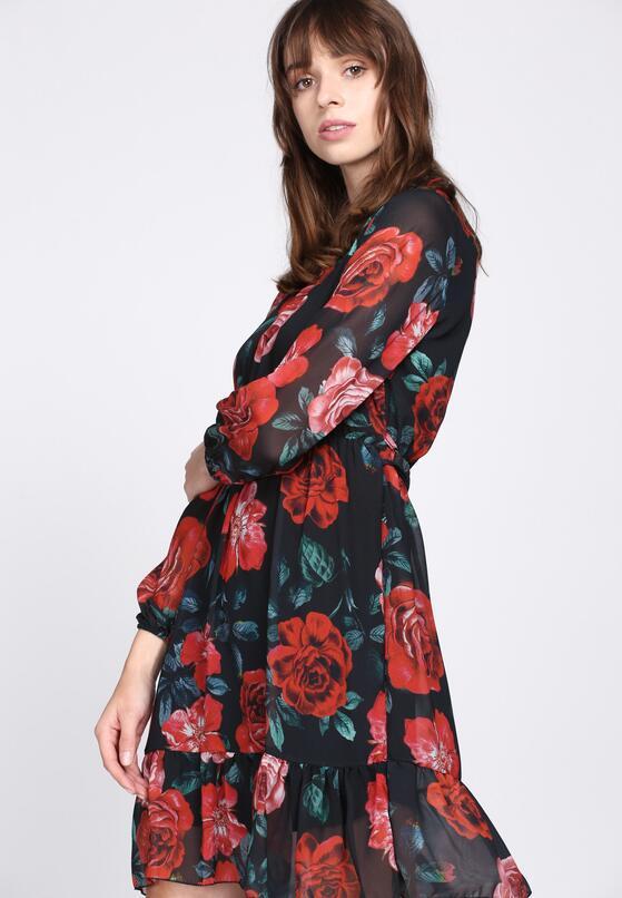 Czarno-Czerwona Sukienka Impressive